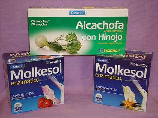 Oferta has ta fin de existencias: Con 2 cajas Molkesol de sabor fresa y/o vainilla por 39,00€ gratis caja de ampollas de alcachofa con hinojo ( valorada en 17,00€). Dilas que vas de parte de AlcorconHoy.