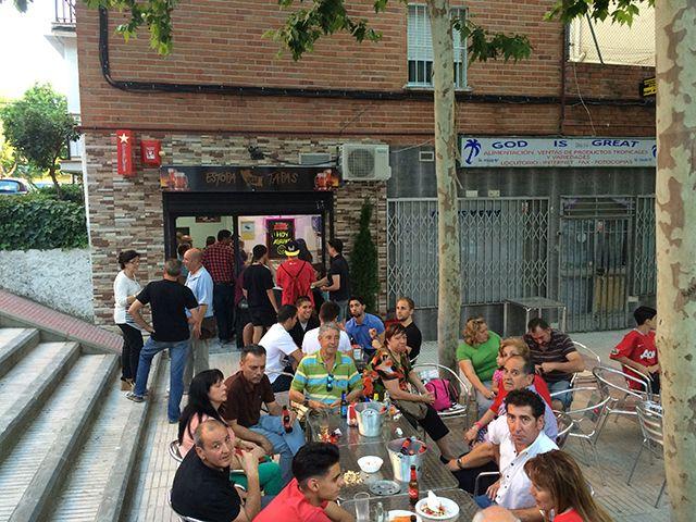 El plan de terrazas únicas de Alcorcón llega al bar Estopa