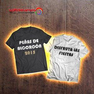 Porque tener camisetas para fiestas de Alcorcón 2015 con el logo de vuestra peña es la mejor manera para desentonar en unas fiestas inolvidables.