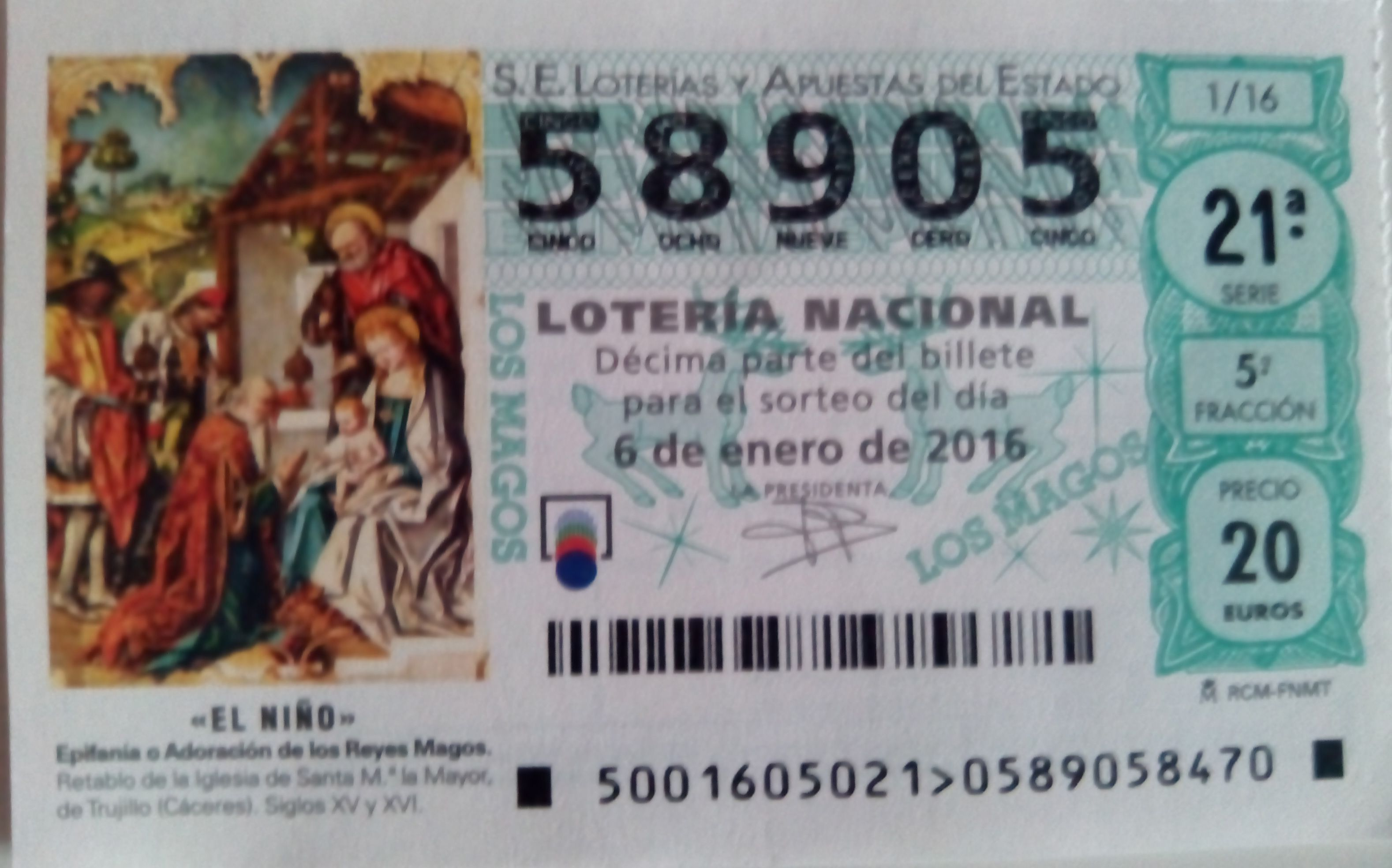Sorteo lotería del niño en Alcorcón