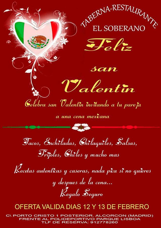 Celebrar San Valentín en un mexicano en Alcorcón