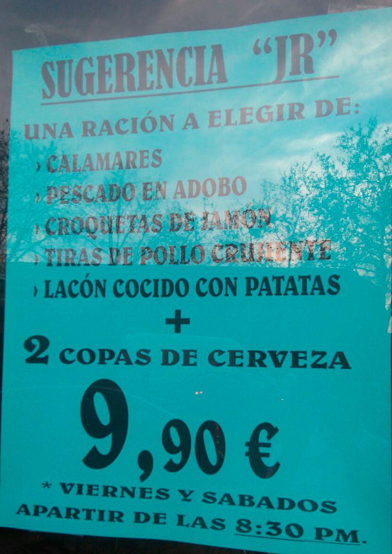 Menús fin de semana en Alcorcón
