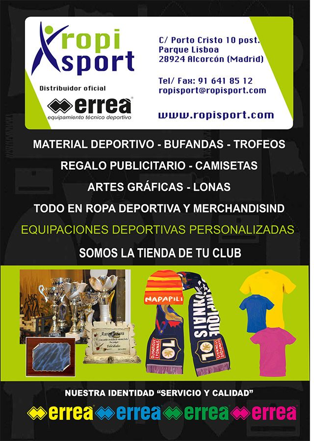 Ropa deportiva para colectivos en Alcorcón