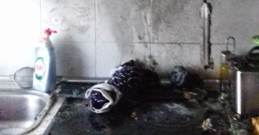 Incendio en una vivienda de la Calle Madrid de Alcorcón