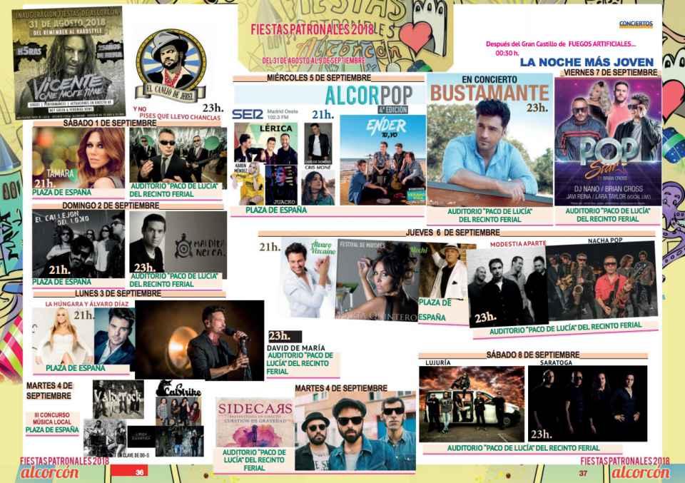 Conciertos de las Fiestas de Alcorcón 2018