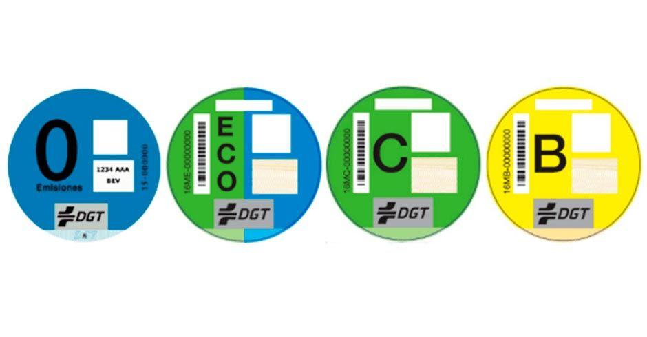 la pegatina ECO de la DGT