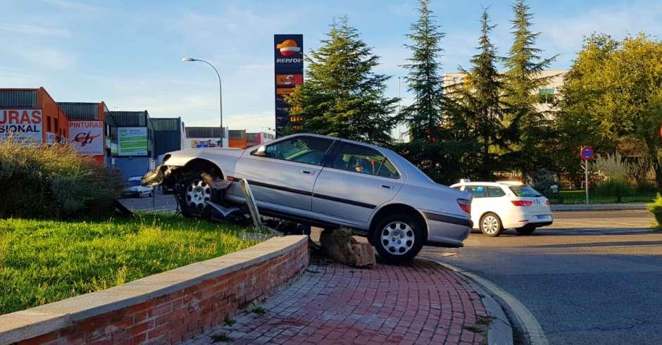 Accidente de tráfico en la Avenida de Leganés