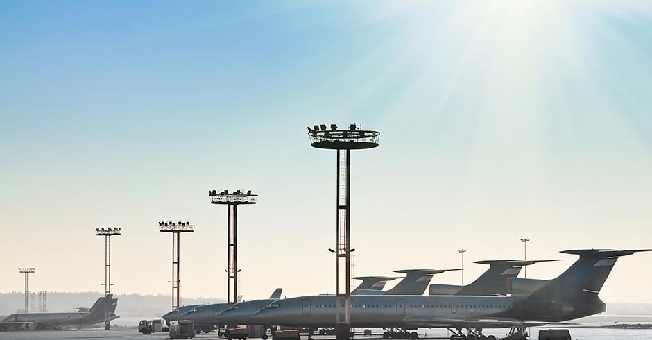Aeropuerto comercial en Madrid Sur
