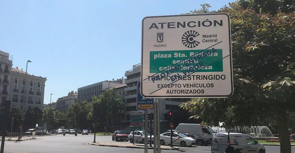 El 30 de noviembre entra en vigor Madrid Central
