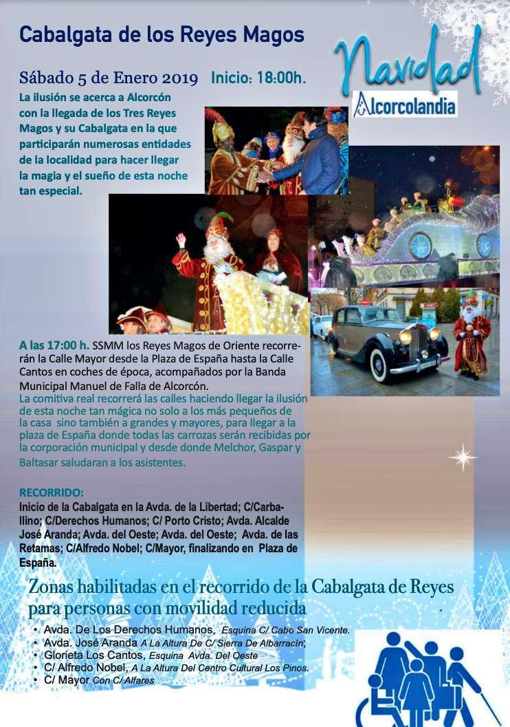 Recorrido de la cabalgata de Los Reyes Magos 2019