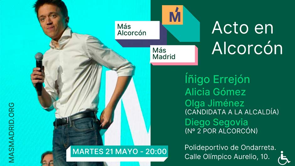 Alcorcón acogerá a Iñigo Errejón