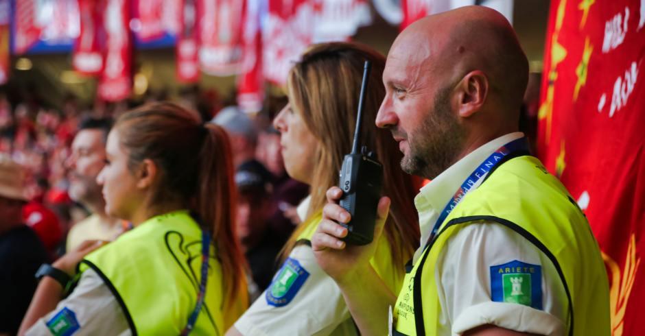 encargada de la seguridad de la final de la Champions League
