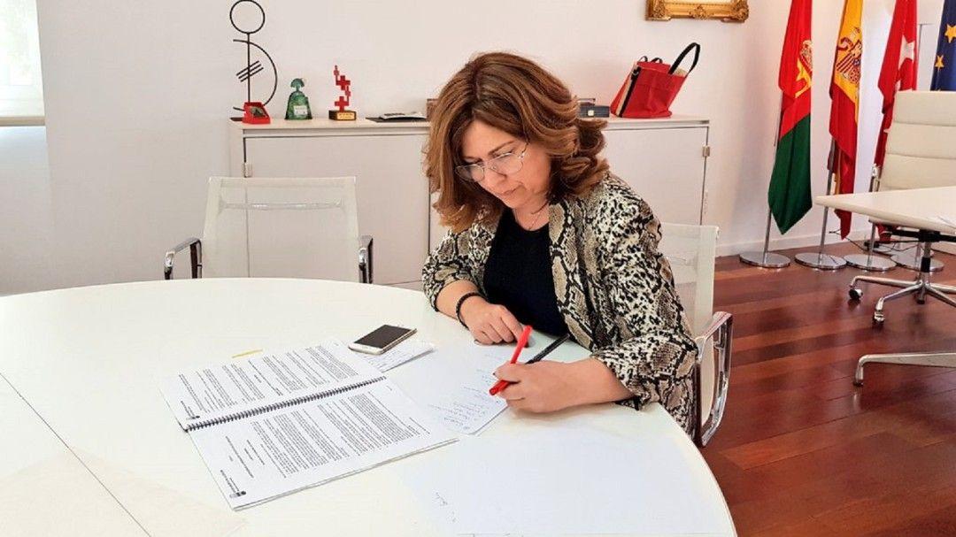 La alcaldesa Natalia
