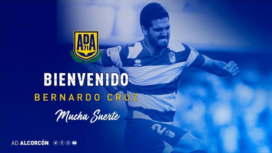 El central de 26 años llega cedido por una temporada. Bernardo Cruz refuerzo defensivo para la AD Alcorcón.