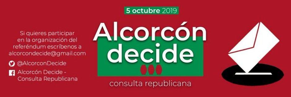 """El 5 de octubre """"Alcorcón Decide"""" entre Monarquía o República"""