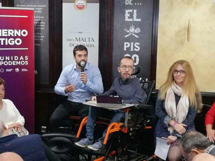 Pablo Echenique en Alcorcón