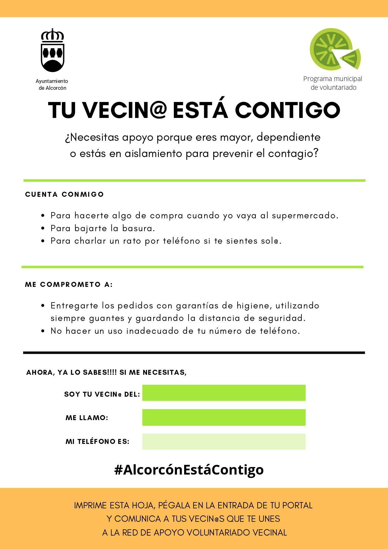 Red de Apoyo Vecinal en Alcorcón