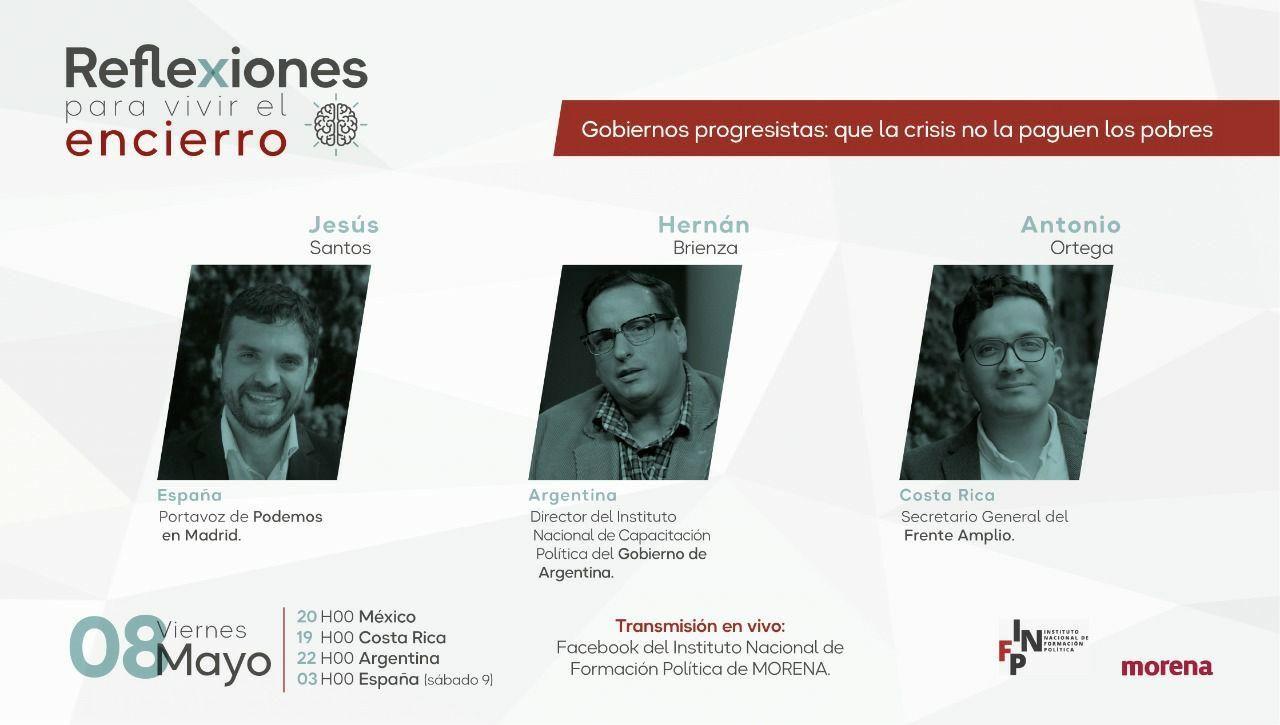 Jesús Santos lleva a cabo diferentes encuentros virtuales como Portavoz de Podemos