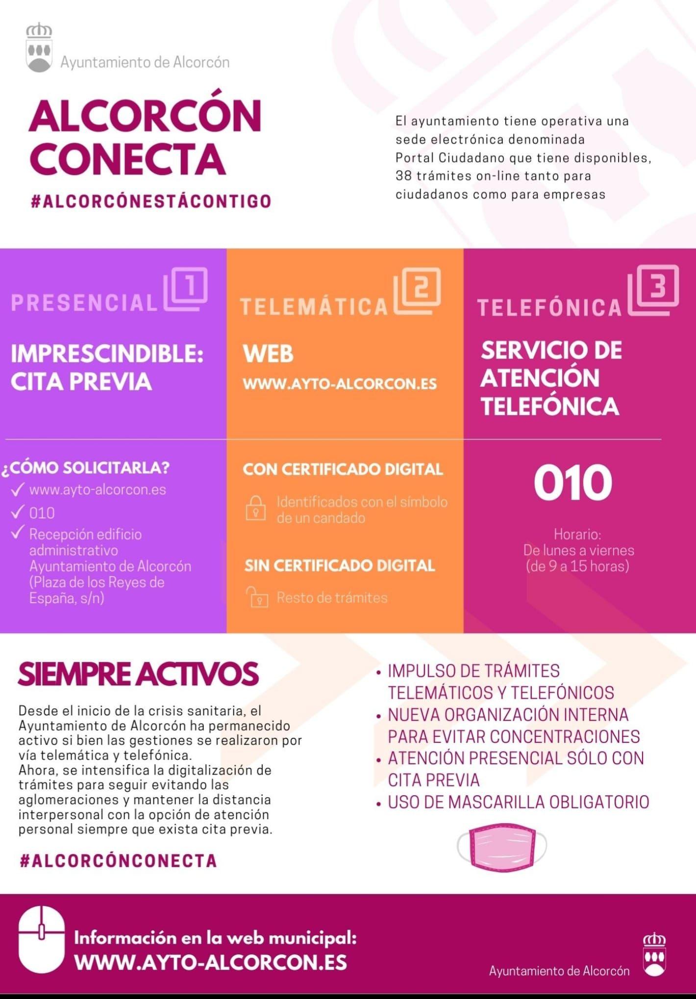 Atención ciudadana telemática en Alcorcón