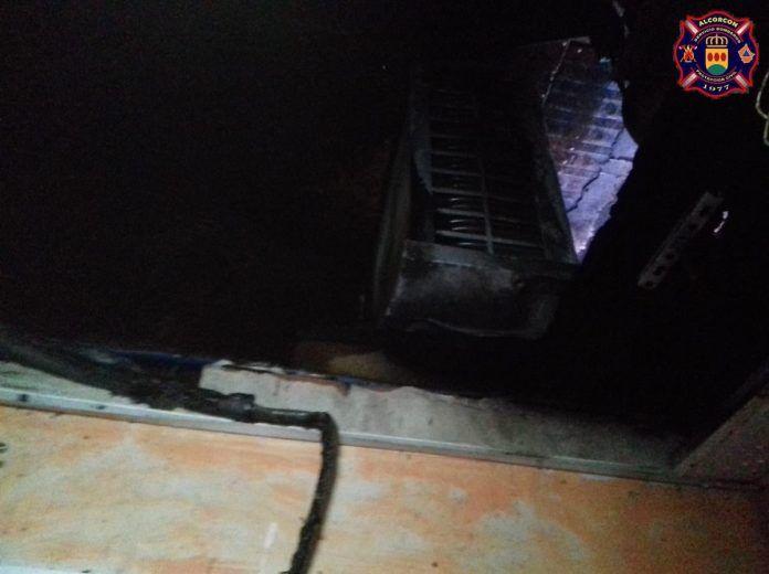 Incendio en un restaurante en Alcorcón