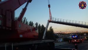 Un camión se estrella en Alcorcón y provoca varias horas de atascos
