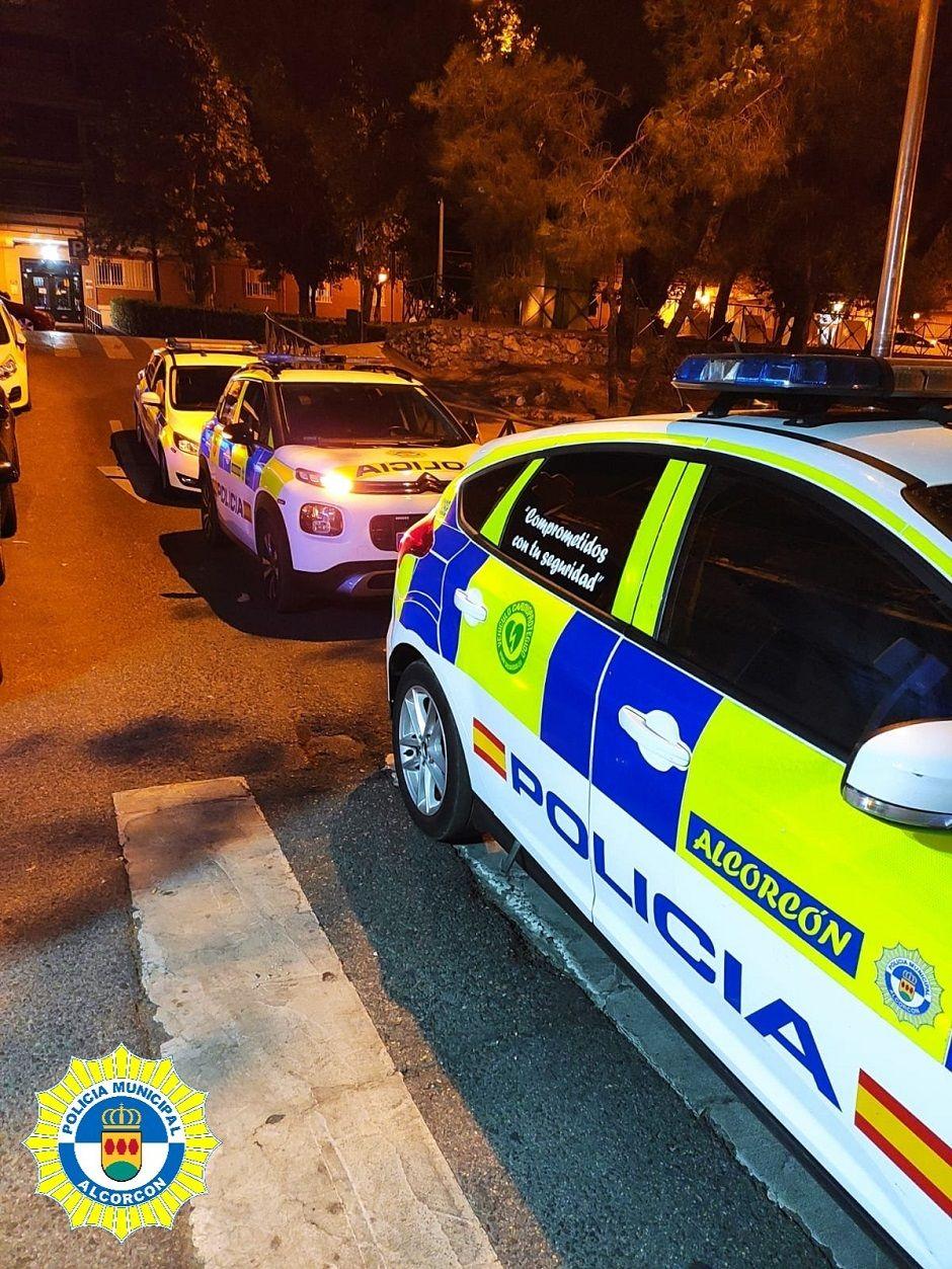 Conducción temeraria, caídas, incendio y botellones durante el fin de semana en Alcorcón