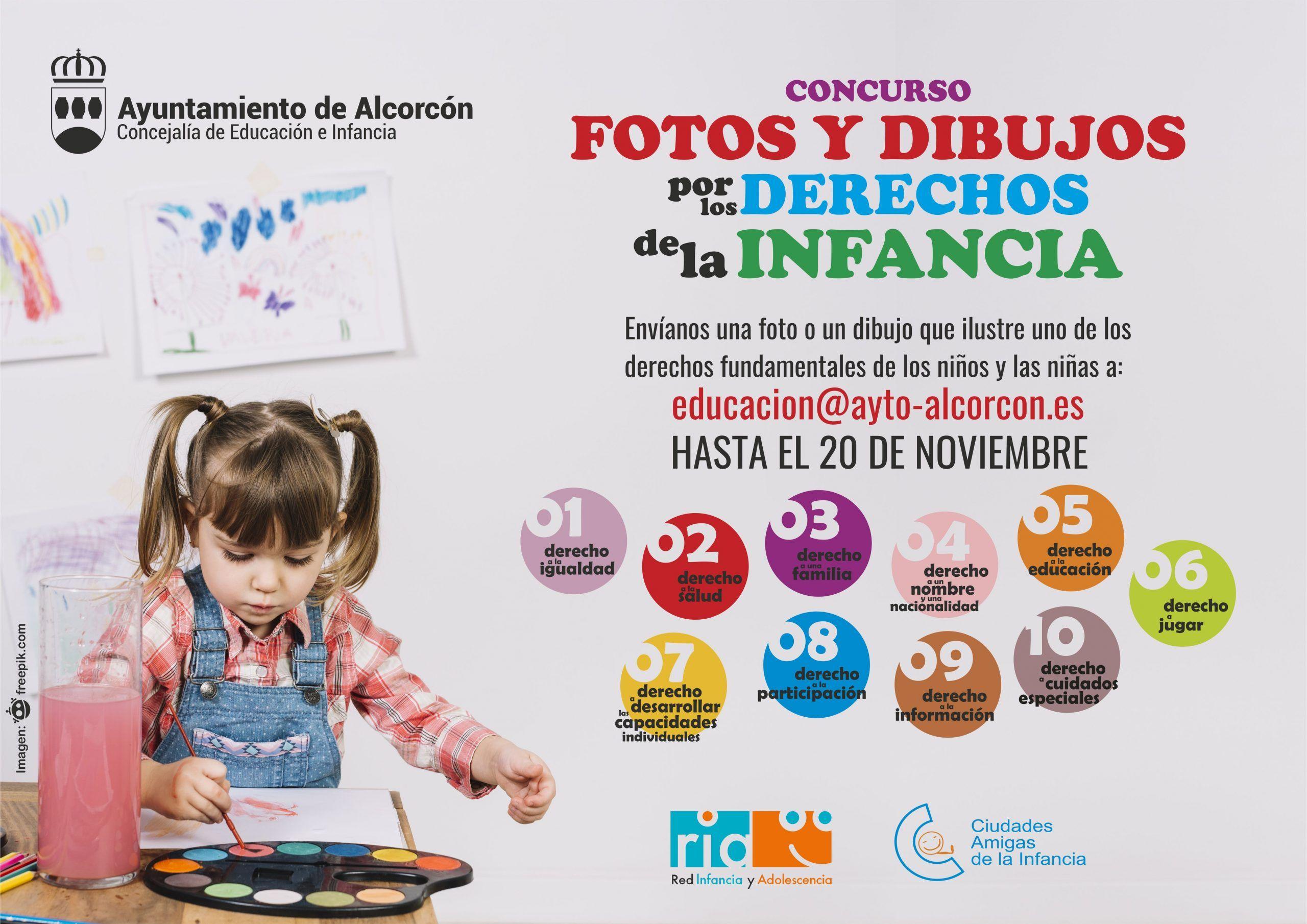 Dibujos por los derechos de la infancia en Alcorcón