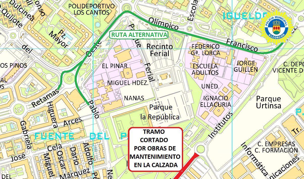 Cortes por obras en Alcorcón