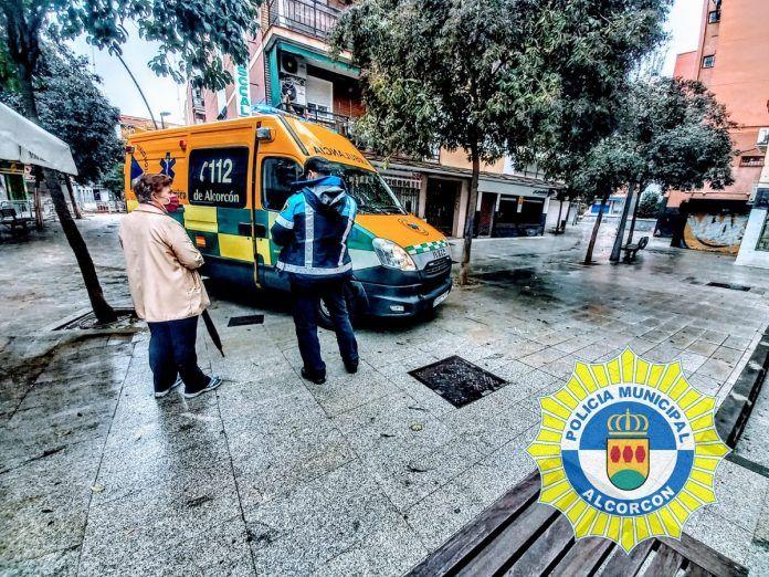 La lluvia provoca accidentes e incidencias en Alcorcón