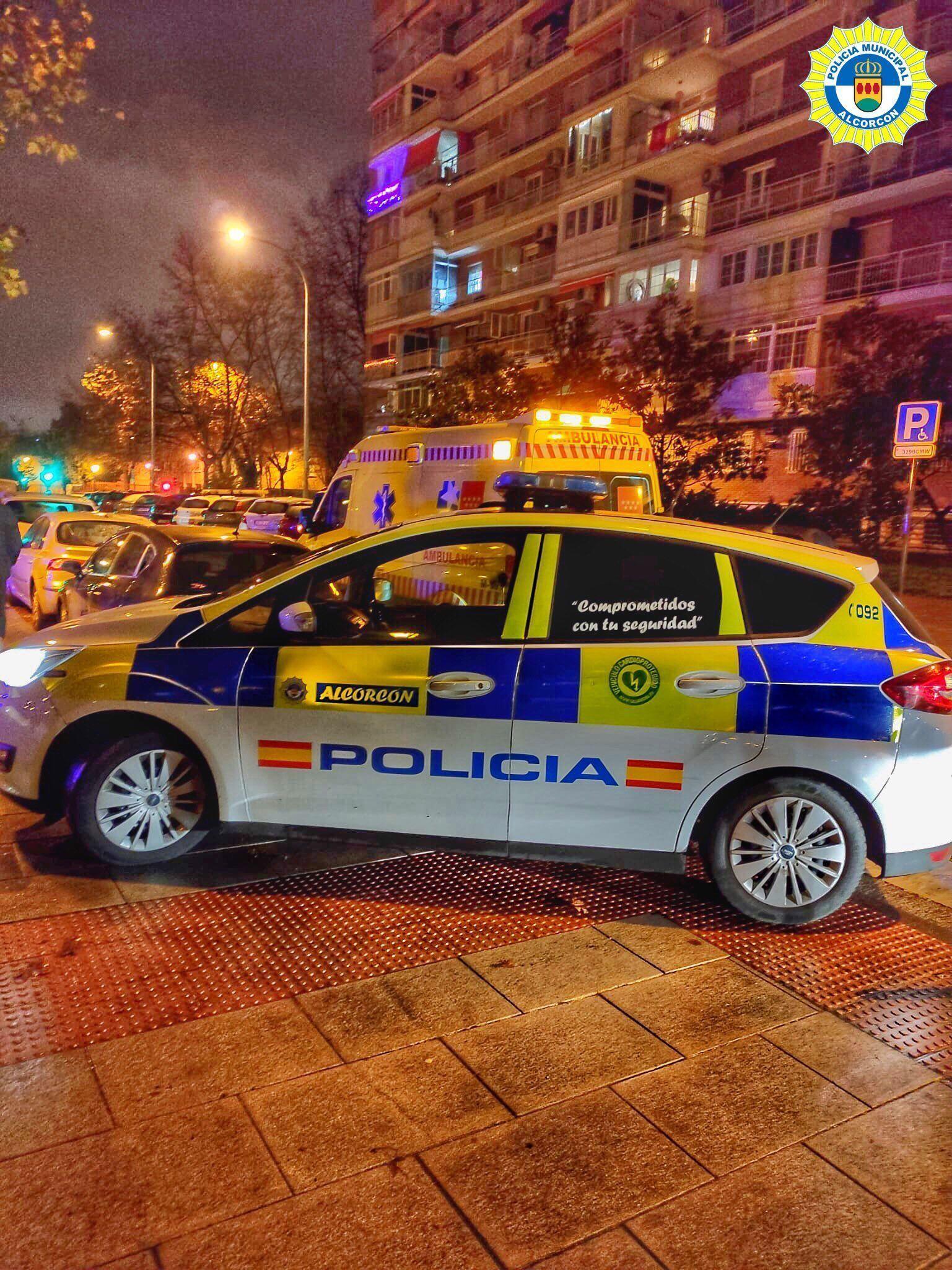 Incidentes de tráfico e intoxicaciones etílicas en Alcorcón