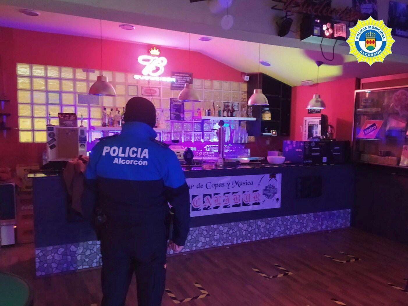 Fiesta desalojada en Alcorcón