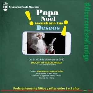 Videollamadas con Papá Noel y los Reyes Magos en Alcorcón