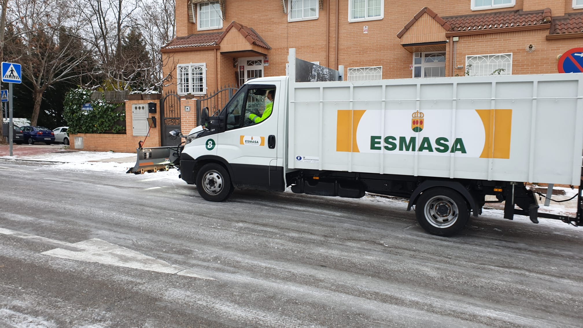 Más de 100 profesionales de ESMASA Alcorcón trabajando a destajo ante Filomena