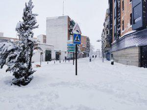 Tres líneas de autobuses recorrerán Alcorcón y llegarán a Madrid mientras dure Filomena