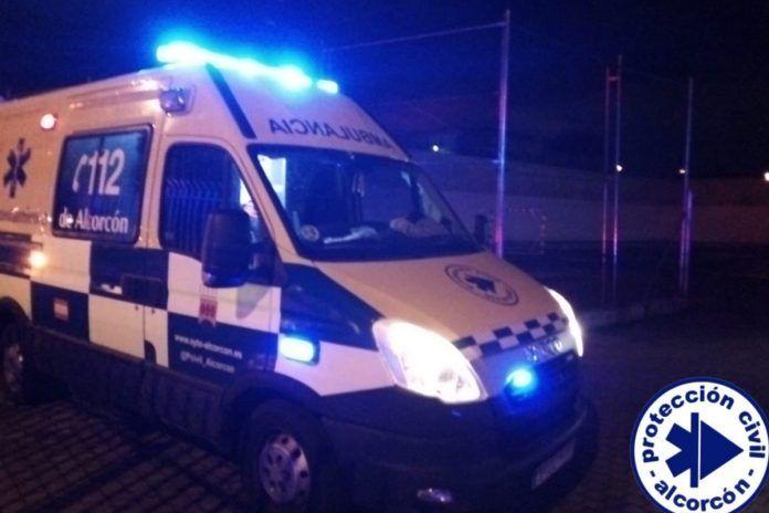 Trasladado al hospital un joven tras un golpe en la cabeza en el M-4 de Alcorcón