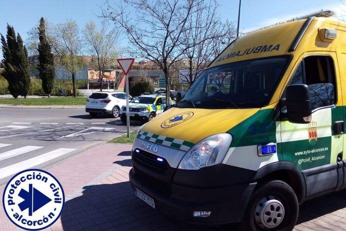 Accidente de moto en Alcorcón
