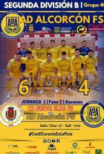 El AD Alcorcón FS busca el ascenso a Segunda y meterse en Copa del Rey