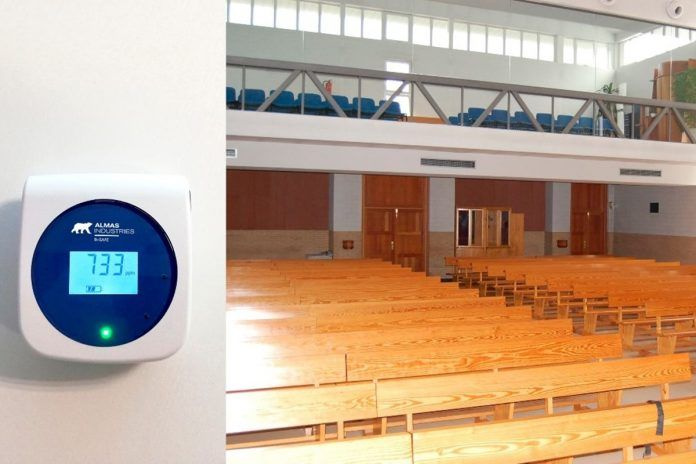 Medidores de CO2 para contener el Covid-19 en una Iglesia de Alcorcón