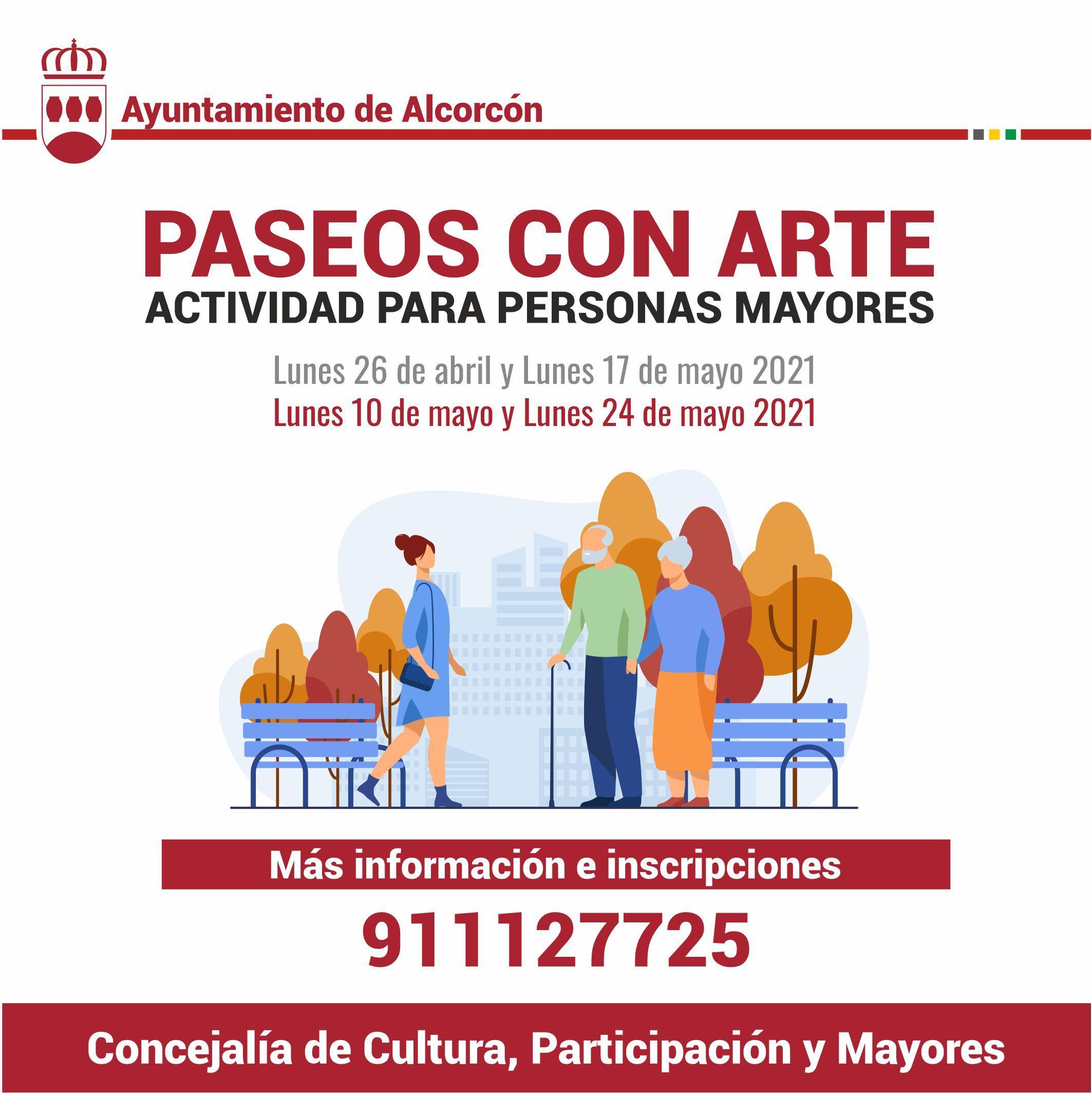 Paseos con arte para los mayores en Alcorcón