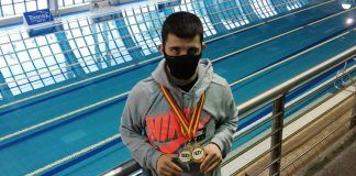 Carlos Hernández, de Alcorcón, triple campeón de España y nuevo récord en natación adaptada