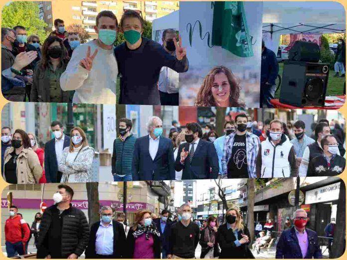 Iñigo Errejón, David Pérez y Grande-Marlaska de campaña electoral en Alcorcón
