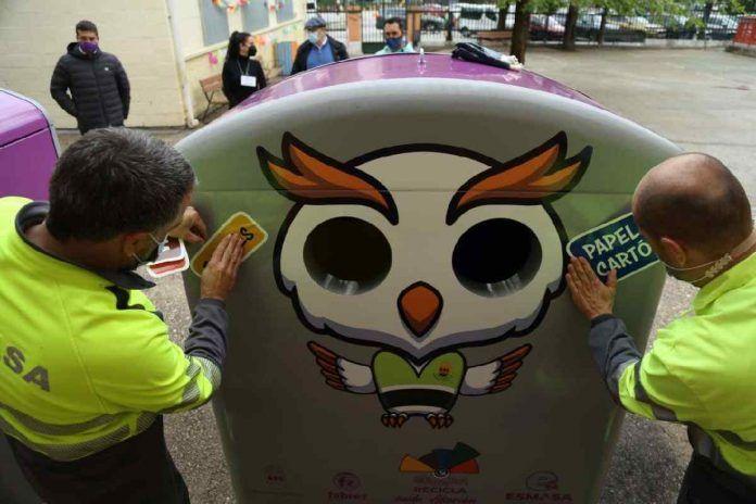 Alcorcón instala contenedores de recogida selectiva en los colegios