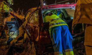 Grave accidente en Alcorcón tras caer un coche por un terraplén