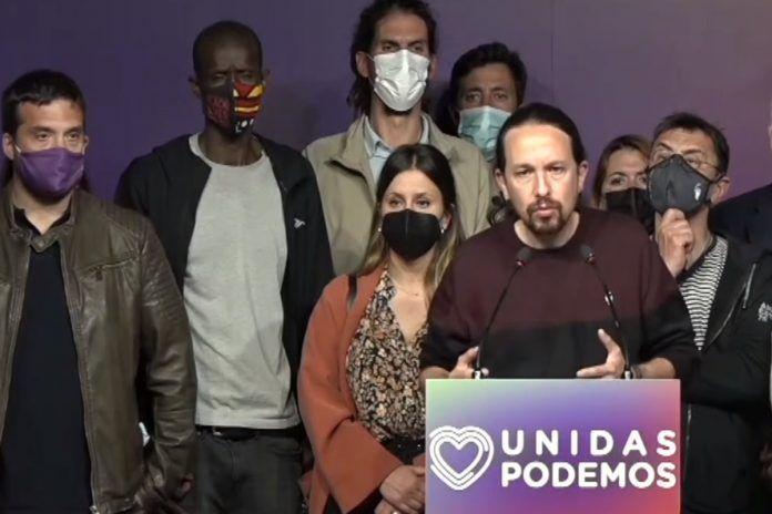 Pablo Iglesias, que estuvo este martes en Alcorcón, deja la política tras los resultados de las Elecciones del 4-M