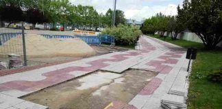 Alcorcón sigue arreglando aceras y baches