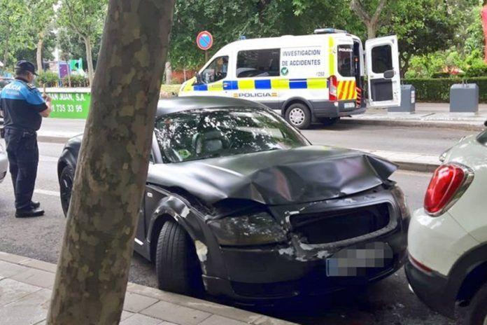 Detenido un conductor en Alcorcón por provocar un accidente bajo los efectos del alcohol