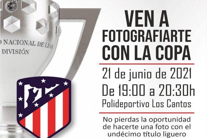 El título de Liga del Atlético de Madrid llega este lunes a Alcorcón