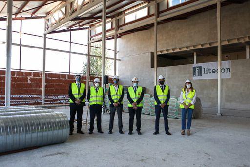 El Consejero de Transportes, David Pérez, visita las obras de la nueva sede de Arriva en Alcorcón