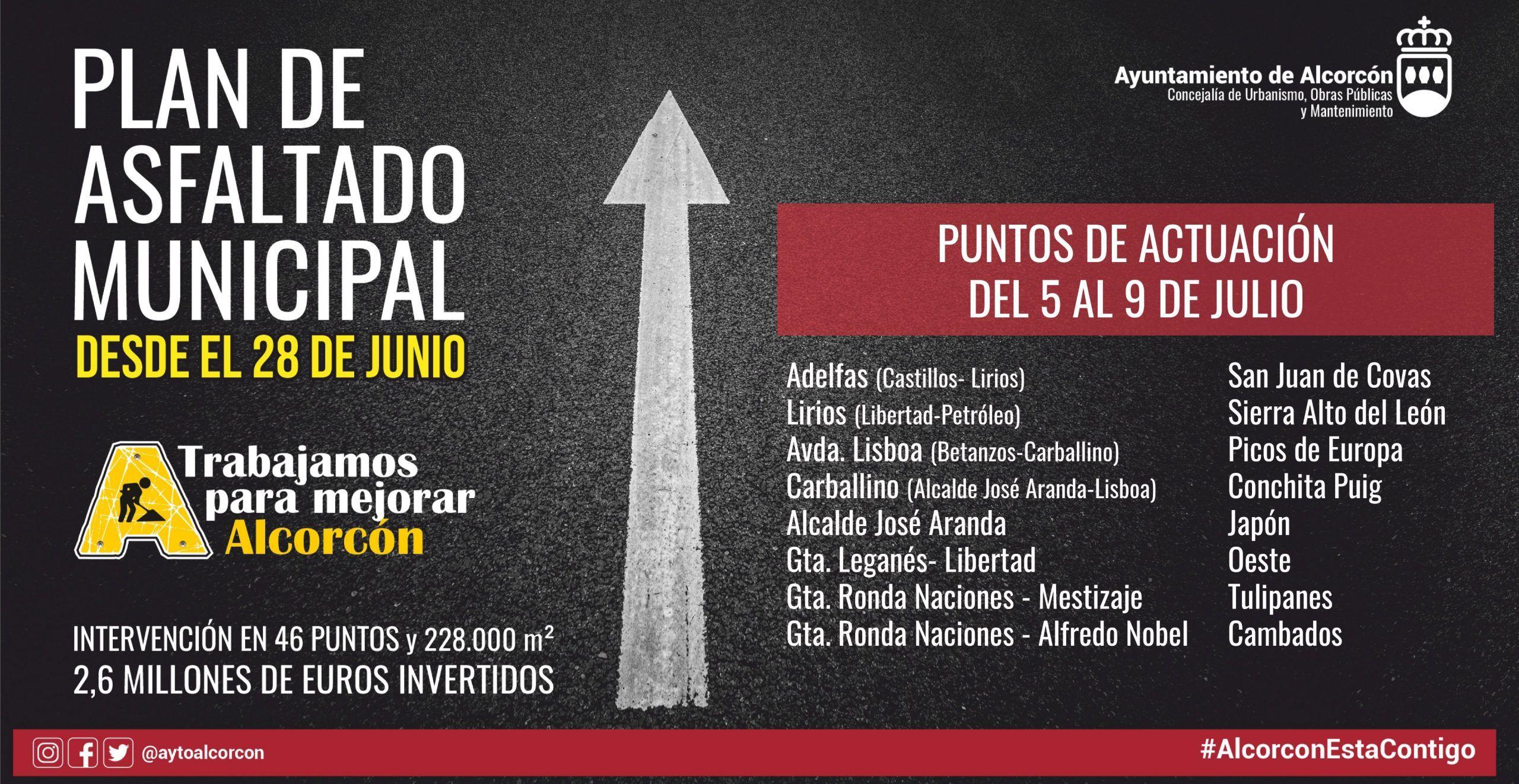 Desde la noche del domingo 4 julio y durante los próximos días. Cortes de tráfico y desvío de autobuses en Alcorcón.