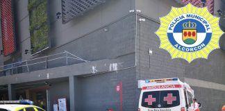 Caída de un hombre en un rocódromo de Alcorcón